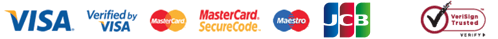 Credit cards, Visa, Mastercard, Maestro, Delta - Secured by Verisign