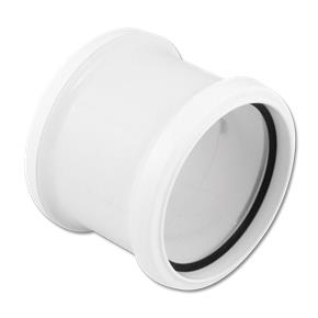 Pipe Coupling Double Socket White