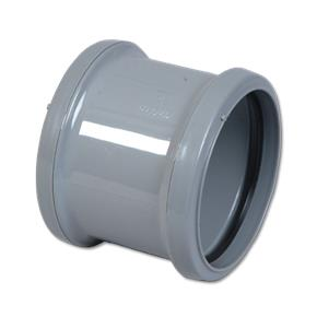 Pipe Coupling Double Socket Grey