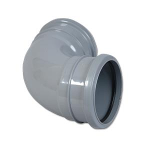 90 Soilpipe Bend Double Socket Grey