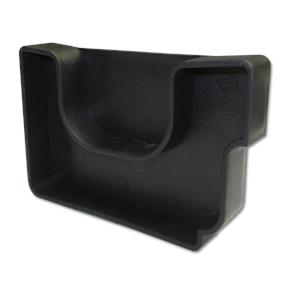 Twinplas Gutter End Cap Right Hand Black