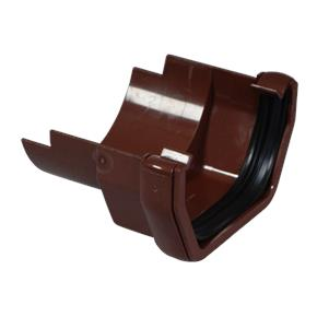 Square/Cast Iron Round Gutter Adaptor Brown