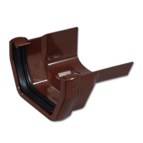 Square/Cast Iron Ogee RH Gutter Adaptor Brown