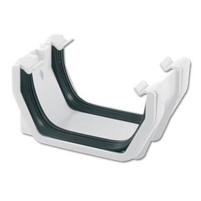 Square Gutter Union Bracket White