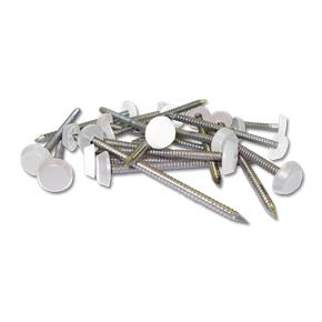 Plastic Headed Pins and Nails White