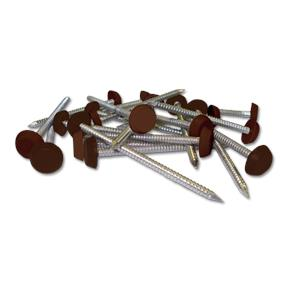 Plastic Headed Pins and Nails Mahogany